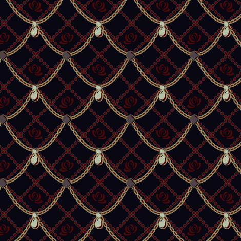 Gothica Rosa fabric by eppiepeppercorn on Spoonflower - custom fabric
