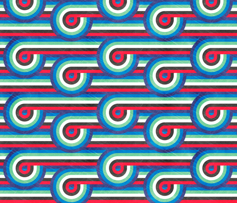 Olympic Retro Ribbons - LET'S GO TEAM USA!!! WOOT! fabric by veritymaddox on Spoonflower - custom fabric