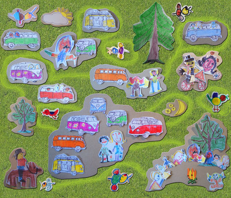 happy campers fabric by 7oaks-design on Spoonflower - custom fabric