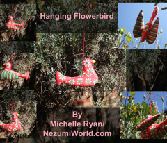 Hanging Flowerbird - Purple