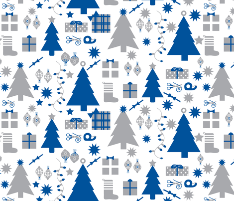 modern holiday fabric by youngcaptive on Spoonflower - custom fabric
