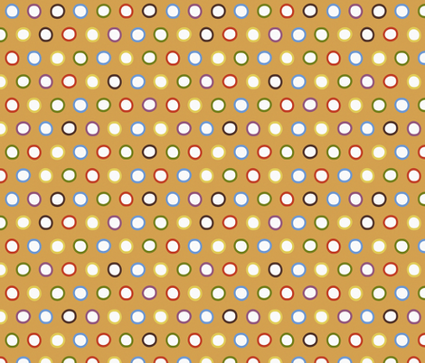 gold rings fabric by scrummy on Spoonflower - custom fabric