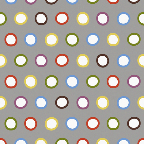 silver rings fabric by scrummy on Spoonflower - custom fabric