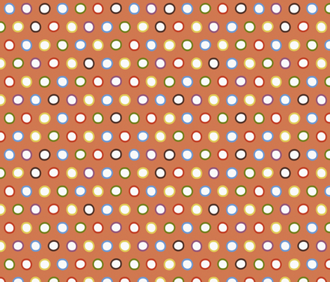 bronze rings fabric by scrummy on Spoonflower - custom fabric