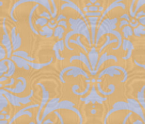 Madame de Pompadour Moire fabric by peacoquettedesigns on Spoonflower - custom fabric