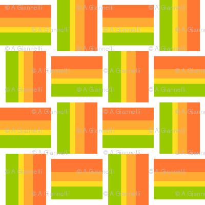 summer rainbow weave