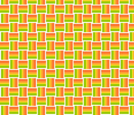 summer rainbow weave fabric by bubbledog on Spoonflower - custom fabric