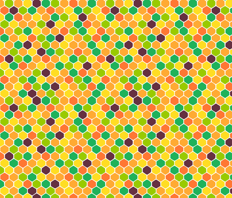 summer honeycomb fabric by bubbledog on Spoonflower - custom fabric
