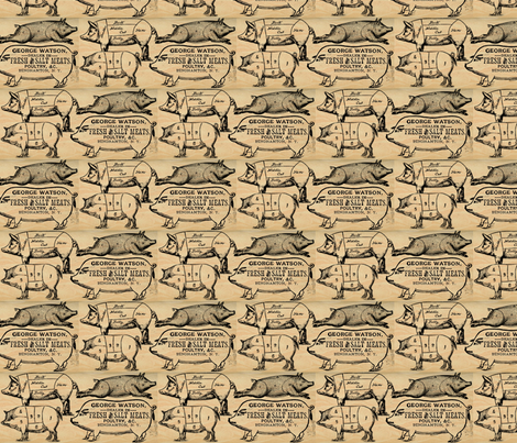 The Other White Meat fabric by marchhare on Spoonflower - custom fabric