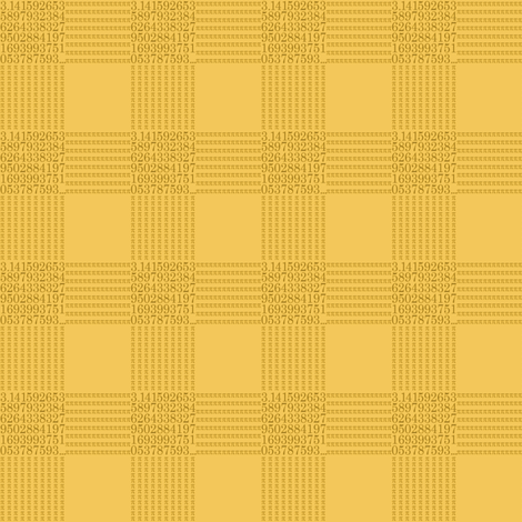 "lemon cream pi - gingham (1"" check) fabric by weavingmajor on Spoonflower - custom fabric"