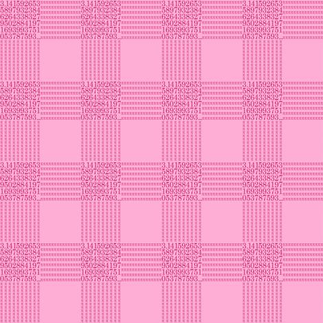 strawberry cream pi - gingham fabric by weavingmajor on Spoonflower - custom fabric