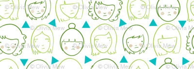 Sad girls and triangles