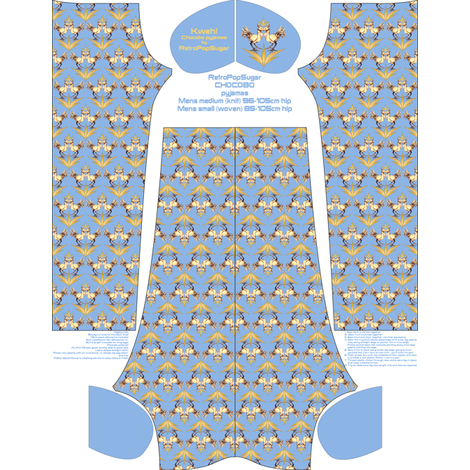 Mens 'Medium/Small' Custom Geek Pyjamas fabric by retropopsugar on Spoonflower - custom fabric
