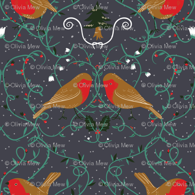 Holiday robins