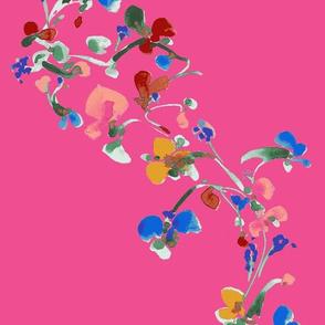 FLOWER VINE IN PINK