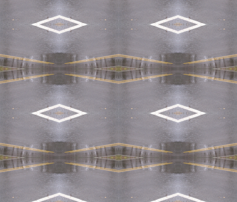 Roadway Mirage fabric by zippyartist on Spoonflower - custom fabric