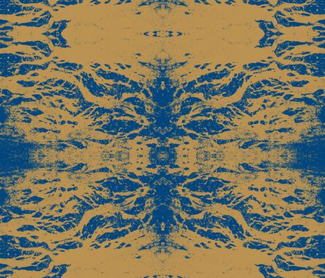 Rorschach mandala fabric by zippyartist on Spoonflower - custom fabric