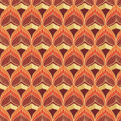 fire_red fabric by kirpa on Spoonflower - custom fabric
