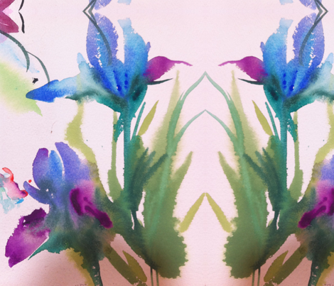 Blue Iris 1 fabric by childatheart on Spoonflower - custom fabric