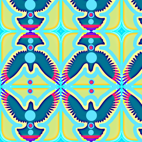 Dove Totem fabric by robin_rice on Spoonflower - custom fabric