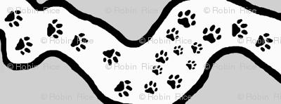 Paw Print Maze