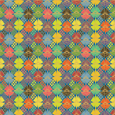 Mummer_on_blue fabric by glimmericks on Spoonflower - custom fabric