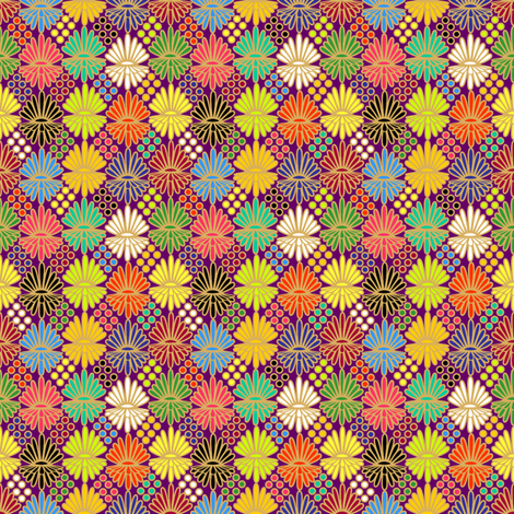 Mummer_on_purple fabric by glimmericks on Spoonflower - custom fabric