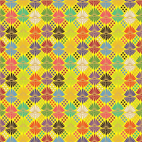 Mummer_on_yellow fabric by glimmericks on Spoonflower - custom fabric