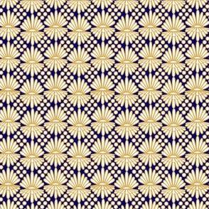Mummer gold on blue