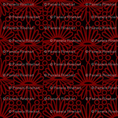 Mummer_-red on black