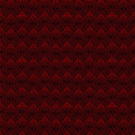 Mummer_-red on black fabric by glimmericks on Spoonflower - custom fabric