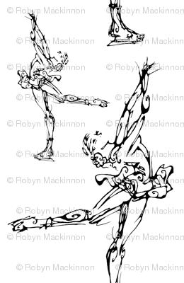 Inkblot Figure Skater 2