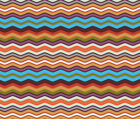 wave fabric by scrummy on Spoonflower - custom fabric