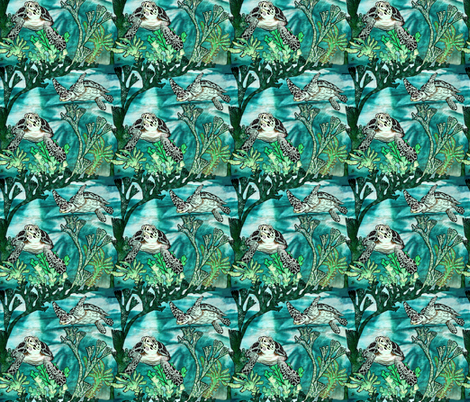 LIVING DINOSAURS 100 MILLION YEARS OLD fabric by art_on_fabric on Spoonflower - custom fabric