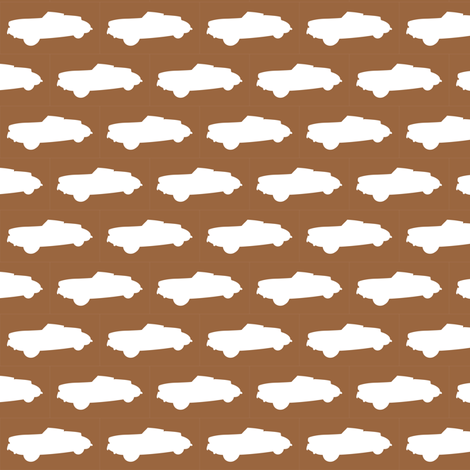 Classic Chocolate Cars fabric by smuk on Spoonflower - custom fabric