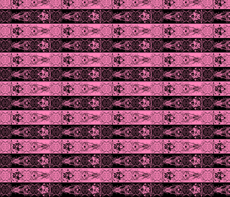 Nightmare Stripes - Black/Pink fabric by atelierpinky on Spoonflower - custom fabric