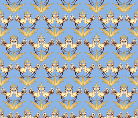Chocobo Vintage (Blue) fabric by retropopsugar on Spoonflower - custom fabric