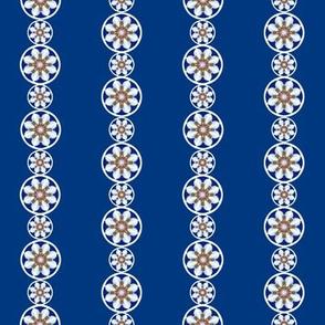 Daisy Chains on blue