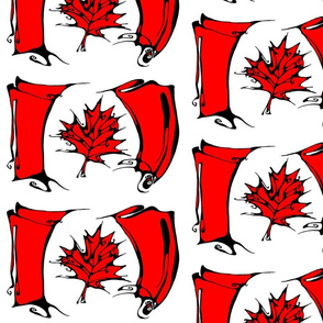 Inkblot Canadian Flag
