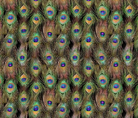 Peacock Feathers Invasion - Singles fabric by bonnie_phantasm on Spoonflower - custom fabric