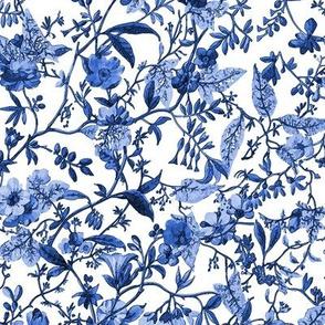 Rococo Indigo floral, c. 1788-1792