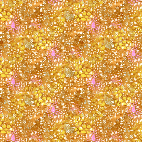 Forest floor (golden) fabric by raccoons_rags on Spoonflower - custom fabric