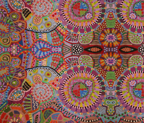 Circle_Painting_006 fabric by edanddoris on Spoonflower - custom fabric