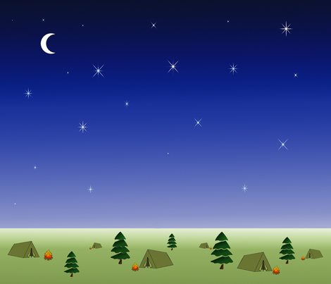 camping under the stars fabric by tulsa_gal on Spoonflower - custom fabric