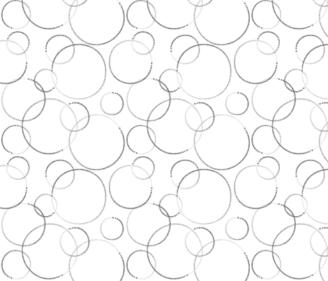 cutie pi (black and white) fabric by weavingmajor on Spoonflower - custom fabric