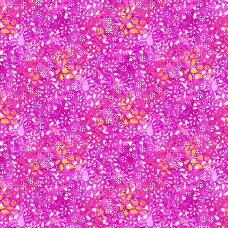 forest floor (fuchsia) fabric by raccoons_rags on Spoonflower - custom fabric