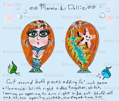 Small Mermaid Dollie Doll Plushie Toy