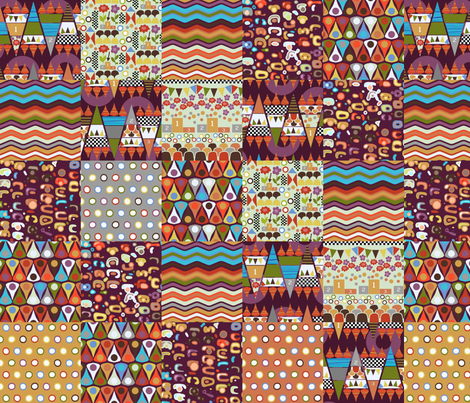 games patches fabric by scrummy on Spoonflower - custom fabric