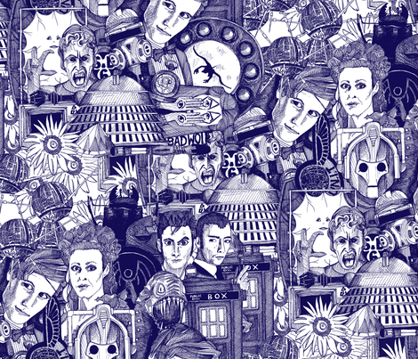The Untempered Schism (ink dark blue) fabric by scrummy on Spoonflower - custom fabric