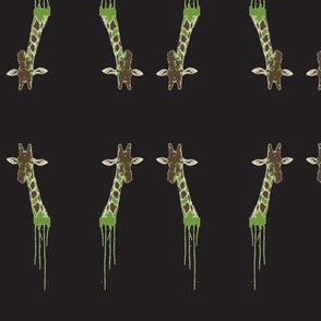Drippy Giraffe Green/Black